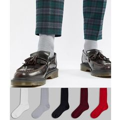 ASOS DESIGN Socks In Vampy Colours 5 Pack Save - Multi