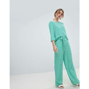 Only stripe wide leg trouser - multi