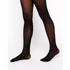 40 denier tights with bum tum thigh support - black, Asos