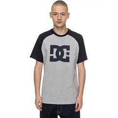 Dc koszulka męska star raglan ss m tees knfh grey heather m (3613372928888)