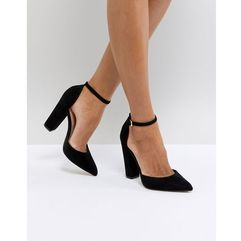 ALDO Nicholes Black Ankle Strap High Heeled Pointed Shoe - Black