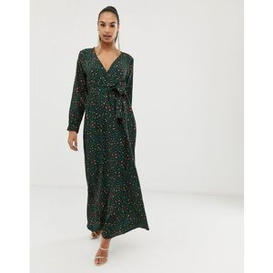 Club l london Club l wrap front leopard maxi dress - multi