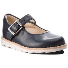 Clarks Półbuty - crown honor 261358686 navy leather