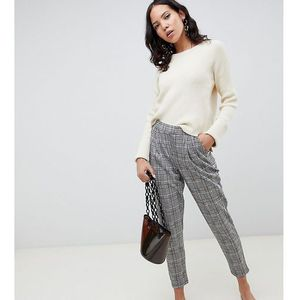 New Look Tall pull on trousers in check - Blue, kolor niebieski