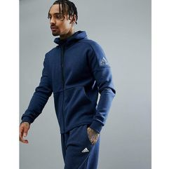 athletics stadium full zip hoodie in navy cg2089 - navy marki Adidas