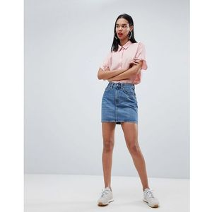 Weekday wend denim mini skirt - blue