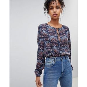 nicole floral print blouse - navy, Pepe jeans