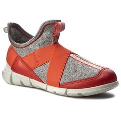 Sneakersy - intrinsic sneaker 70507250384 coral blush/concrete/black marki Ecco