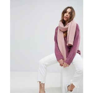Weekday wool mix oversize chunky scarf - pink