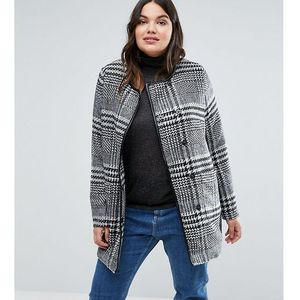 plus coat in check - multi marki Junarose