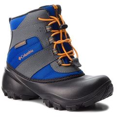 Śniegowce - childrens rope tow iii waterproof bc1322 azul/orange blast 437 marki Columbia