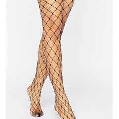 ASOS 2 Pack Oversized Fishnet Tights - Black, kolor czarny