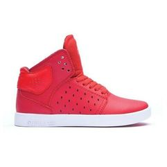 Supra Buty - kids atom red-white (red)