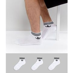 3 pack ankle socks in white az6288 - white marki Adidas originals