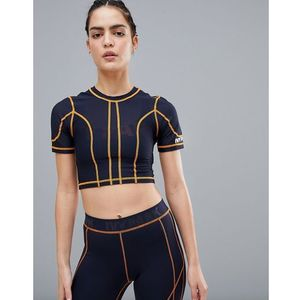 active contrast stitch mesh crop top - multi marki Ivy park