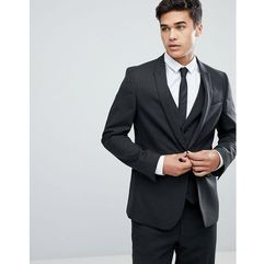 skinny suit jacket in charcoal - grey marki Asos design