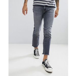 Lee Slim Rider Jeans with Fray Hem - Grey, jeans