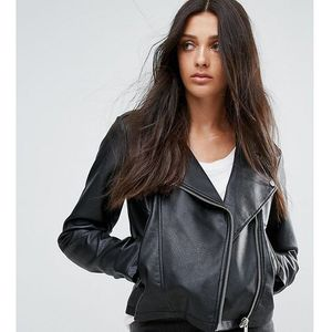 ASOS TALL Ultimate Leather Look Biker Jacket - Black, ramoneska