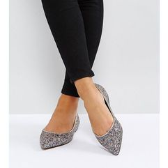 Asos latch wide fit pointed ballet flats - multi