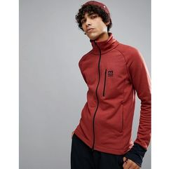 66o north 66 north atlavik mid layer logo jacket in red - red
