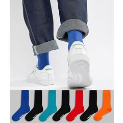 socks in retro sport colours with branded soles 7 pack save - multi marki Asos design