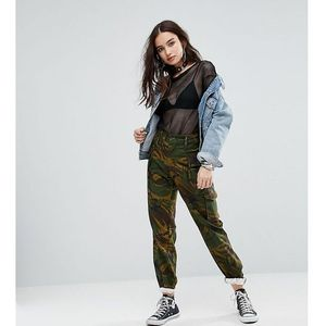 revived military trousers in camo - green, Reclaimed vintage