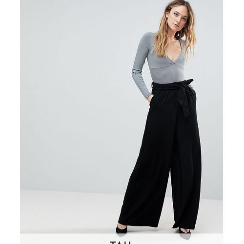 Y.A.S Tall High Waisted Wide Leg Trouser - Black