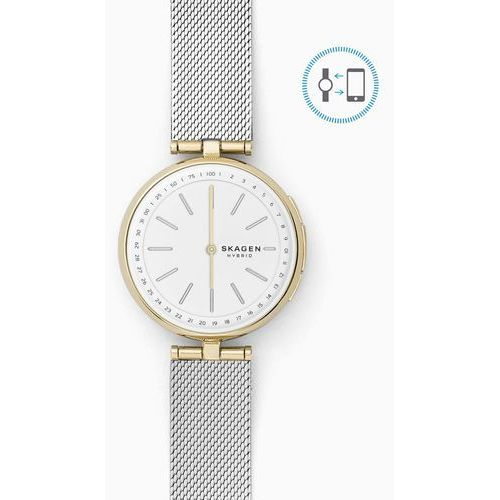 Skagen SKT1413 Connected Signatur T-Bar Hybrid Smart Watch 36mm - Silver